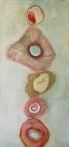 """Balance III 18""""x40"""" Acrylic Collage Painting"""