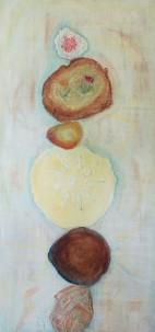 "Balance IV 18""x40"" Acrylic Collage Painting"