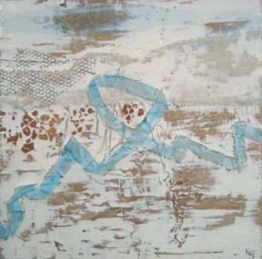 """Untitled I Collage 10"""" x10"""" Acrylic Mixed Media"""