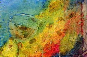 """Elephant Mountain 12""""x8"""" Oil Collage"""